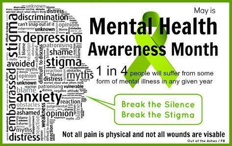 Mental Health Awareness Week is April 30 through May 4