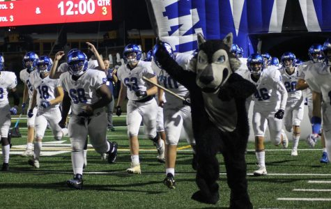 Plano West runs out of the tunnel against Plano Senior on Friday, September 28, 2018 at Clark Stadium.